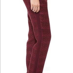 Tory Burch Pants - Tory Burch burgundy maroon tweed tuxedo pants